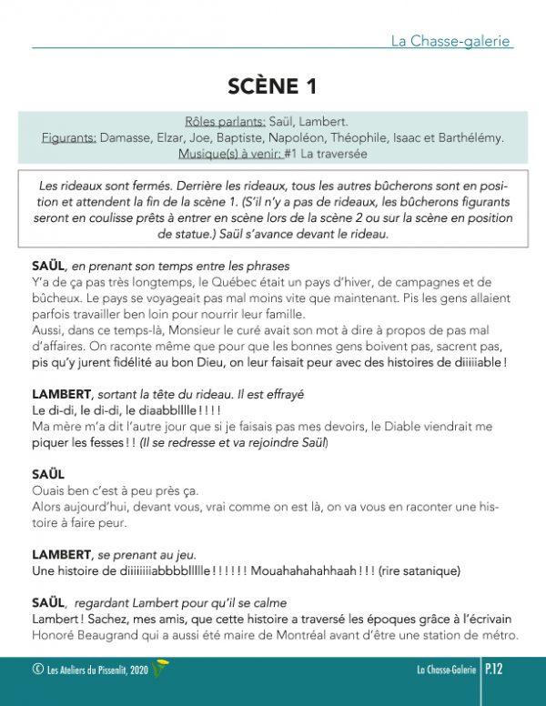 La Chasse-galerie scène p1