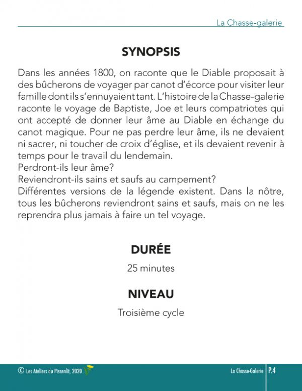 La Chasse-galerie synopsis