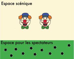 clown espace scénique